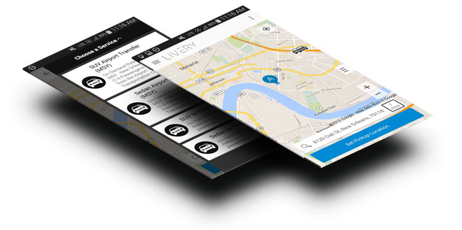 LiveryCar Phone App