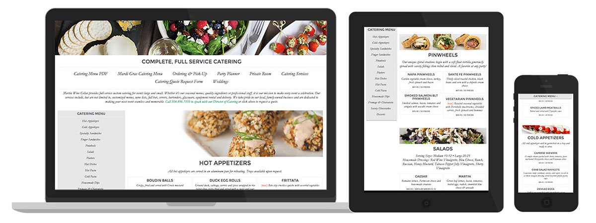 Martin Catering Page