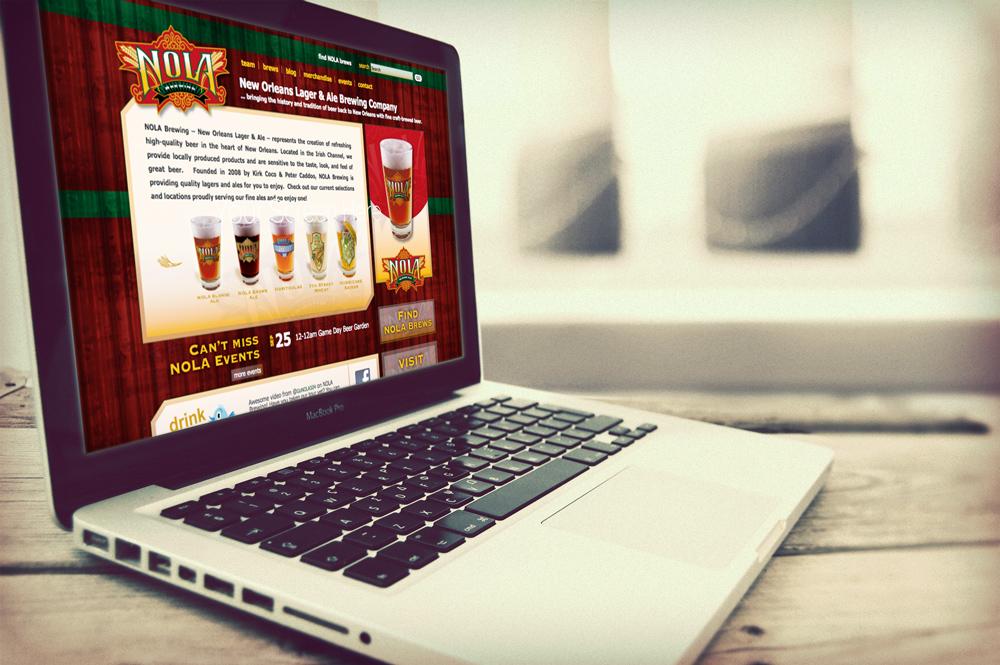 NOLA Brew Website Design and Development