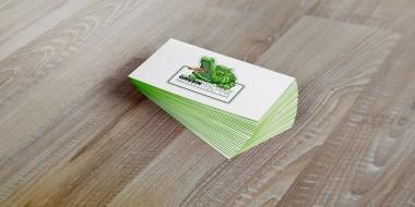 Green Machine Logo Design - Business Cards New Orleans