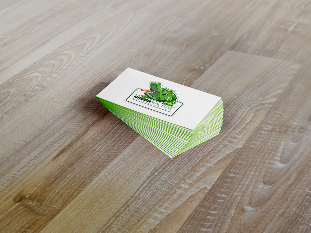 Green Machine Logo Design - Business Cards New Orleans