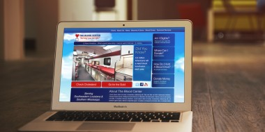 The Blood Center Website Development and Design