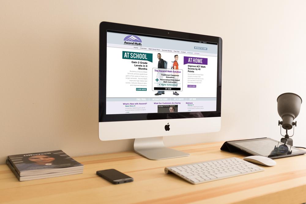 Ascend Math Website Design and Development