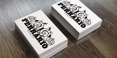 New Orleans Identity and Logo Design - Ferrero Realty Business Cards