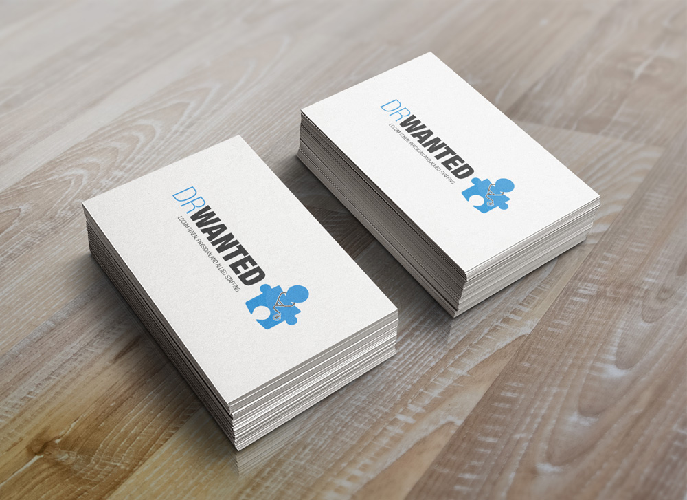 New Orleans Identity and Logo Design - Dr Wanted Business Cards