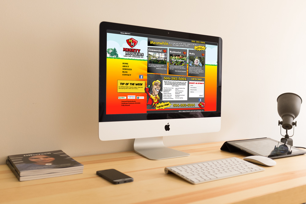 Website Design and Development - Mighty Mowers Website