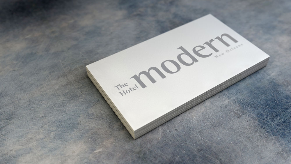 Identity and Logo Design - The Hotel Modern Business Cards