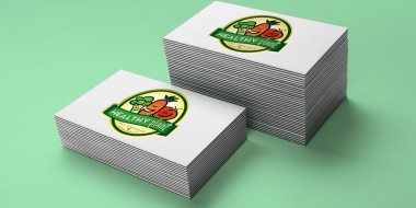 Identity and Logo Design - Healthy Plant Business Cards