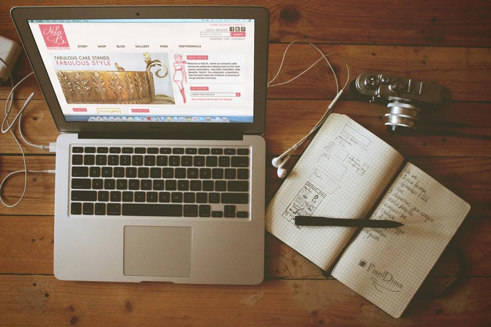 Website Design and Development - Nola B Website Shop