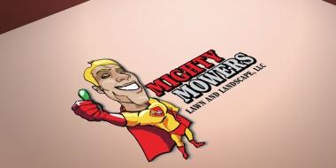 Identity and Logog Design - Mighty Mowers Logo