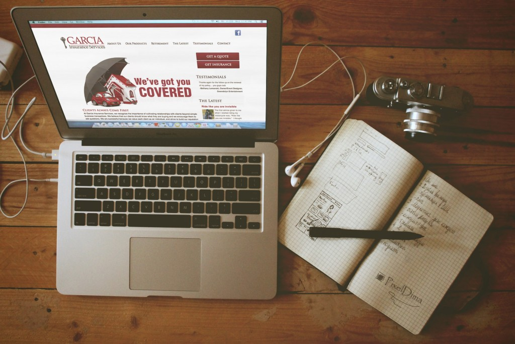 New Orleans Website Development and Design - Garcia Insurance Website
