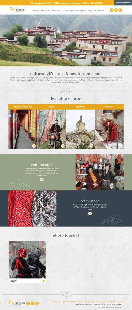 New Orleans Website Design - Tibetan House