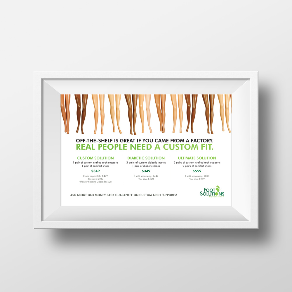 New Orleans Creative Advertising - Print Advertising - Foot Solutions Poster