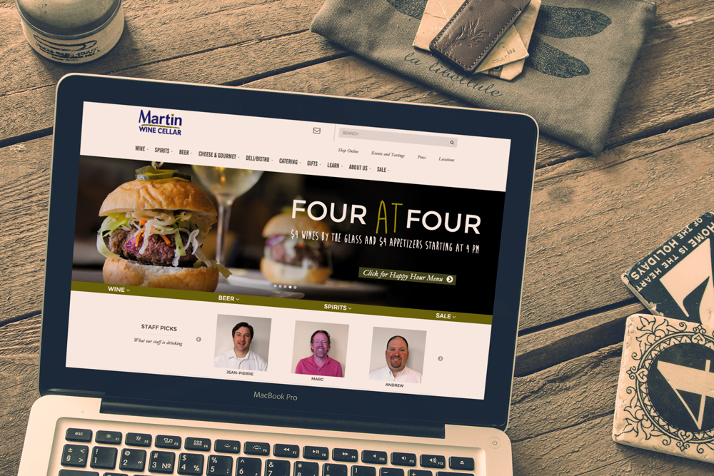 New Orleans Website Development and Design - Martin Wine Cellar Website