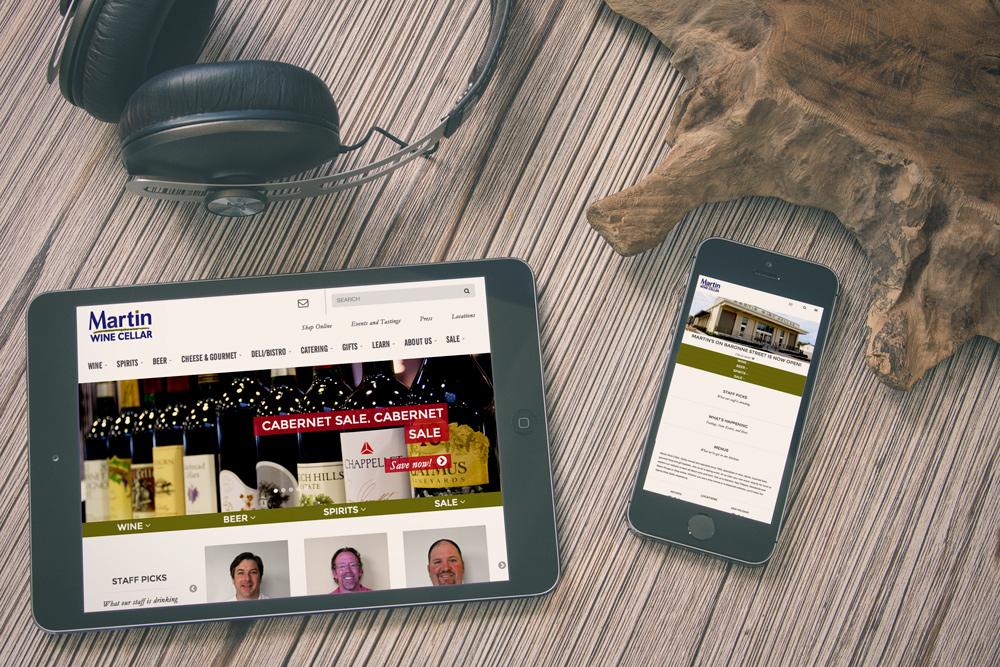 Mobile Website Development and Design - Martin Wine Cellar Website
