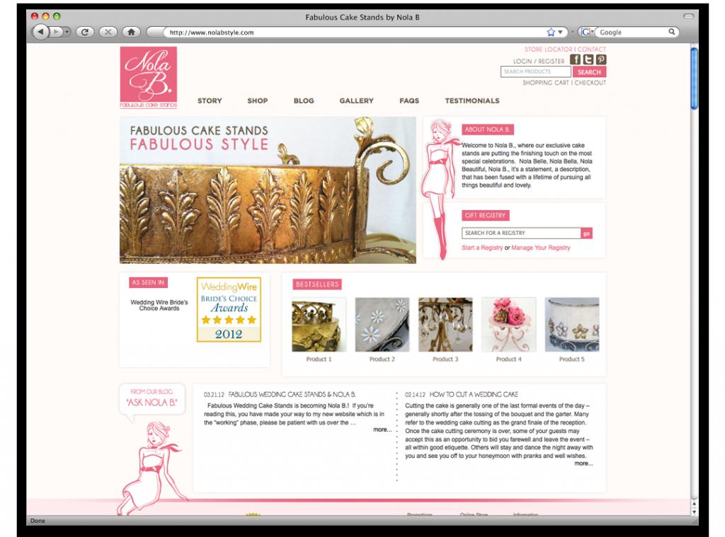 Website Design and Development - Nola B Website