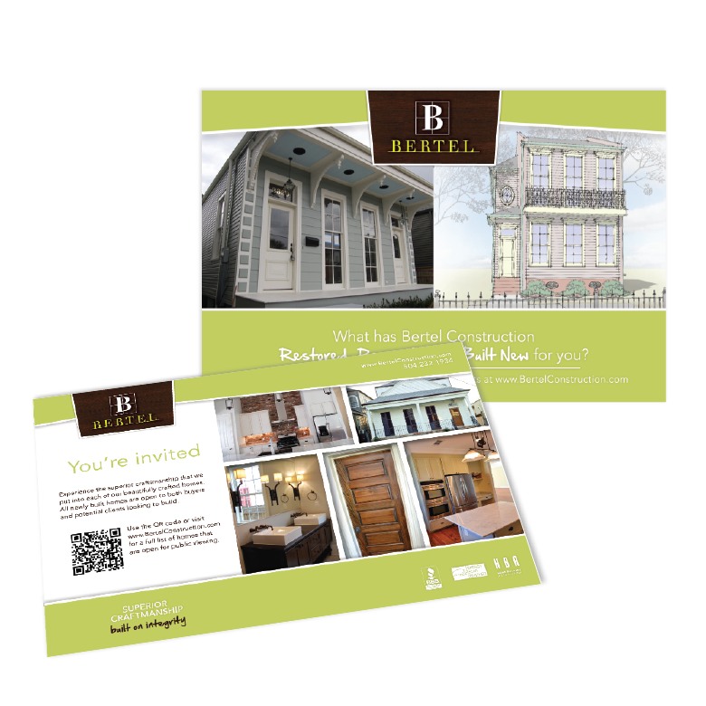 New Orleans Marketing Collateral - Bertel Postcard Project