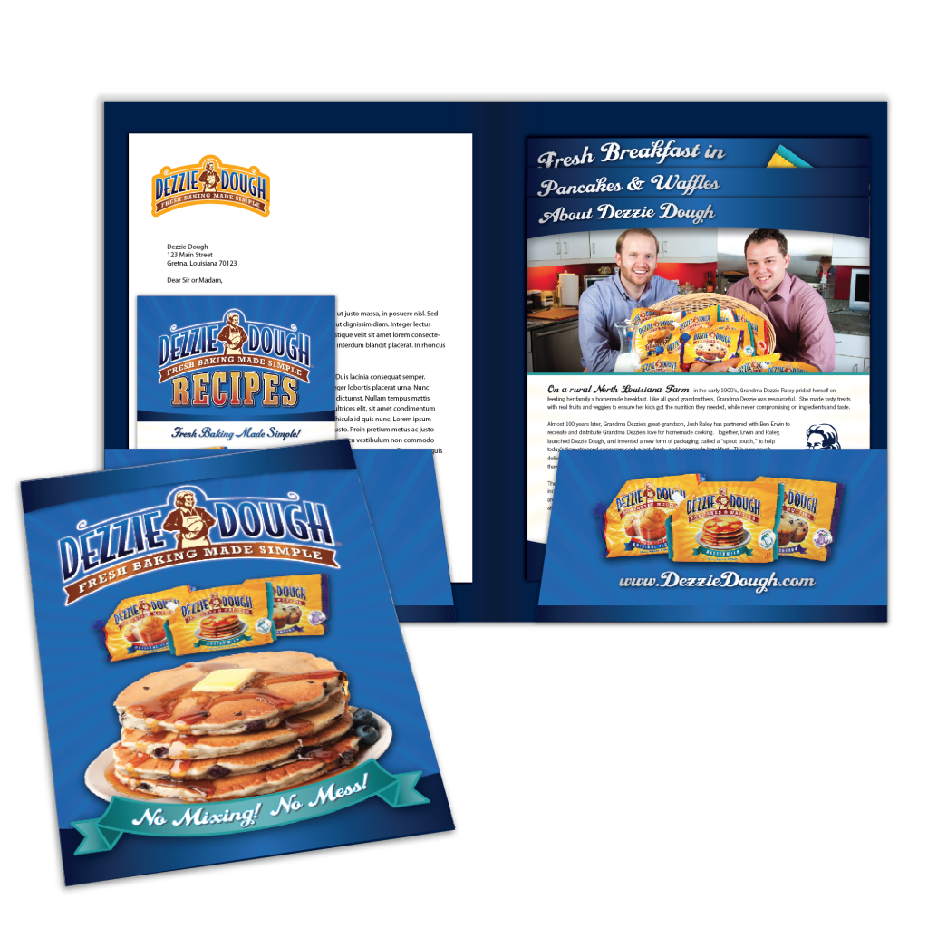 New Orleans Marketing Collateral Design - Dezzie Dough PressKit