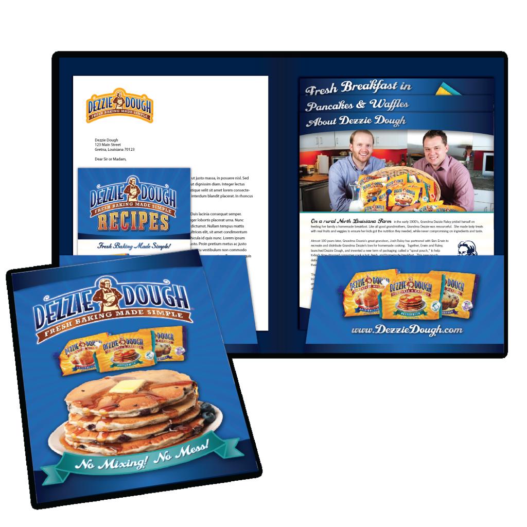New Orleans Marketing Collateral Design - Dezzie Dough PressKit