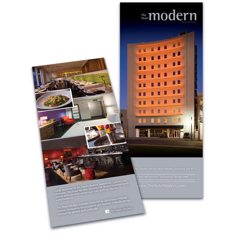 New Orleans Brochure Design - Hotel Modern Brochure