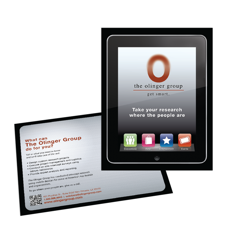 New Orleans Marketing Collateral - The Olinger Group Postcard