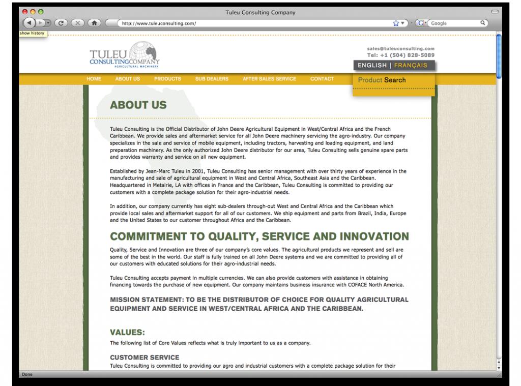 Website Design and Development - Tuleu Website Interior