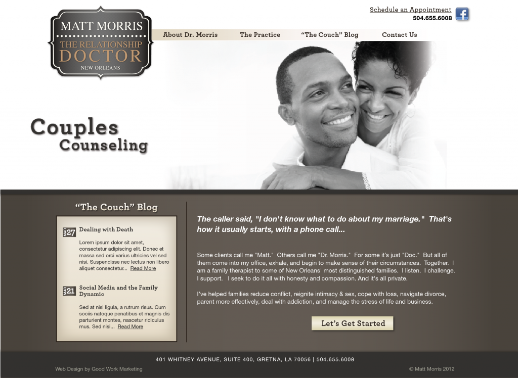 Website Design and Development - Matt Morris Website
