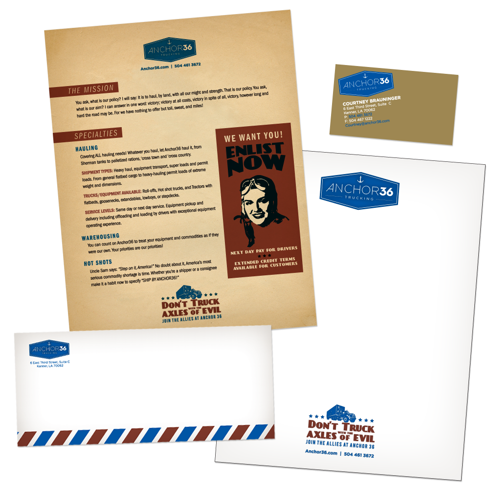 Marketing Collateral Design - Branded Stationery - Anchor36