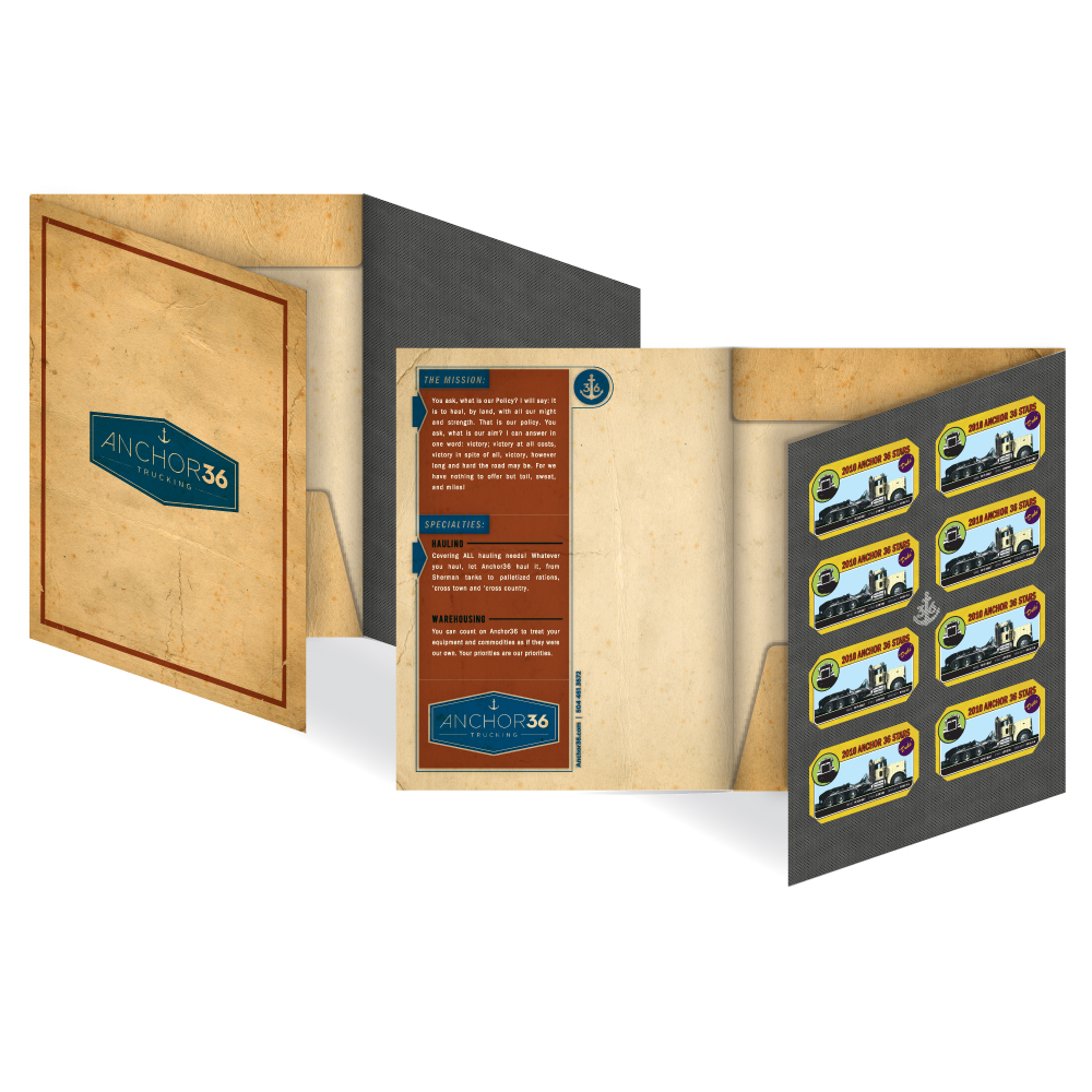 Marketing Collateral Design - Marketing Folders - Anchor36