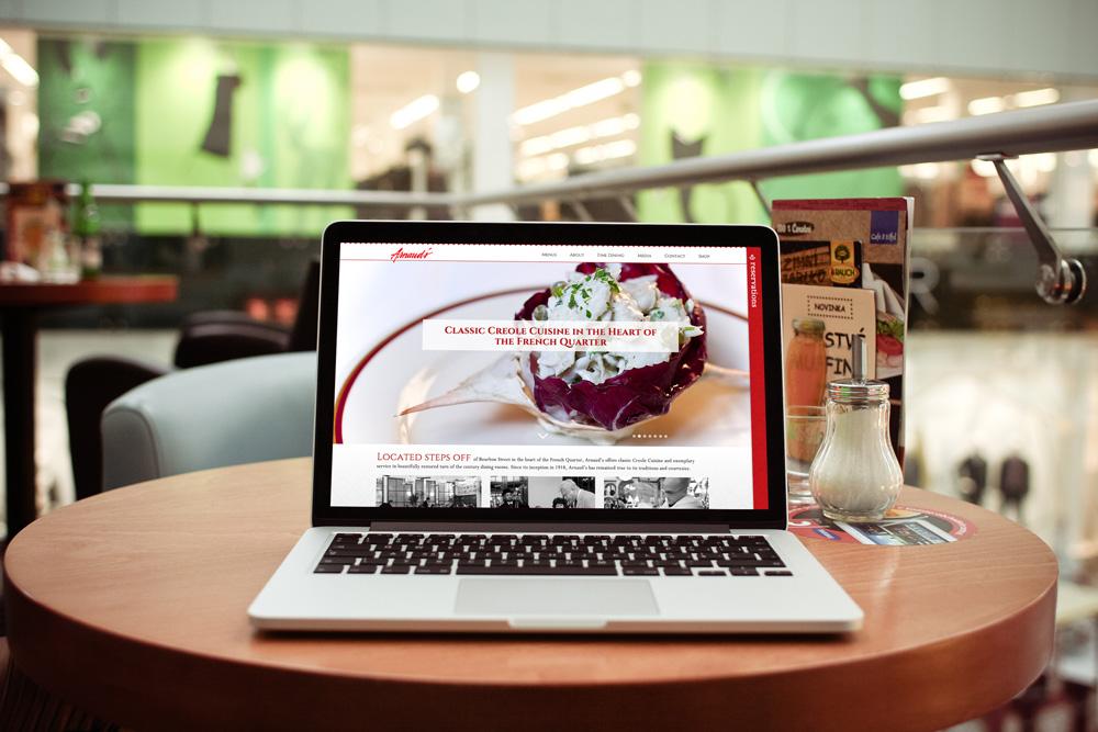 New Orleans Website Development - Arnaud's Restaurant