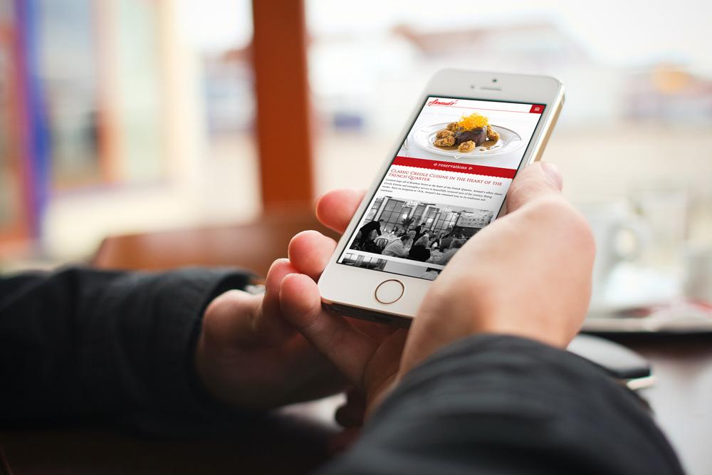 Mobile Website Development - Arnaud's Restaurant