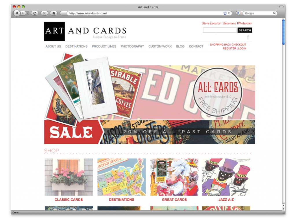 Website Development and Design - Art and Cards