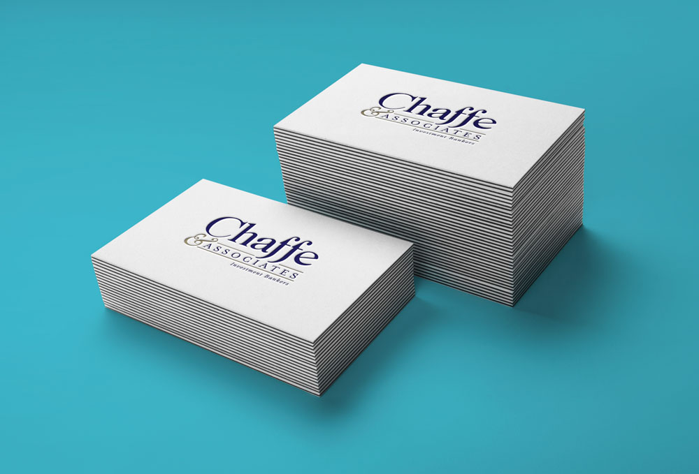 New Orleans Identity and Logo Design - Chaffe and Associates Business Cards