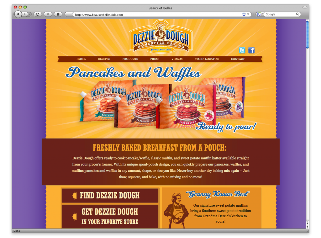 New Orleans Website Design and Development - Dezzie Dough Website