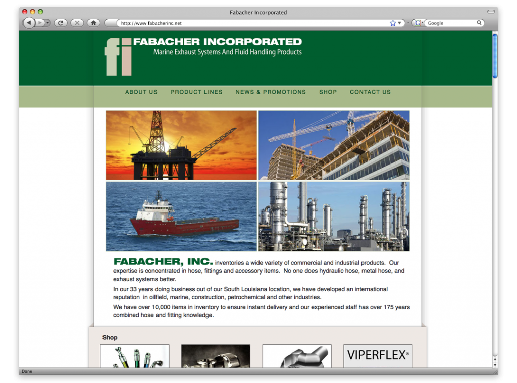 Fabacher Inc Website Design and Development