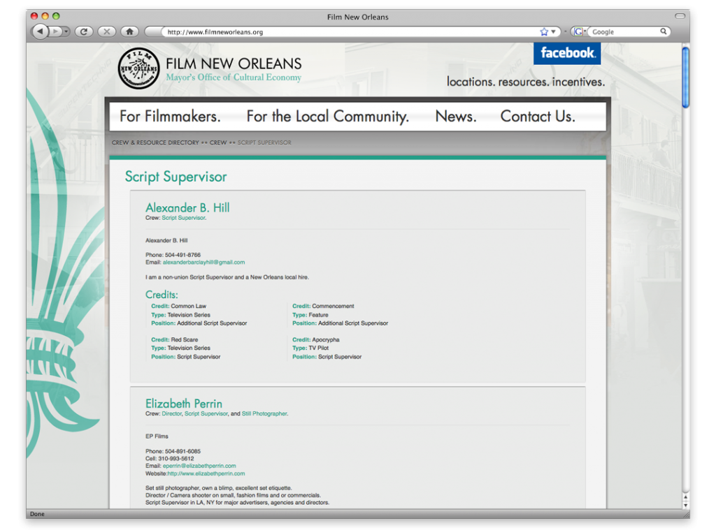 New Orleans Website Design and Development - Film New Orleans Website