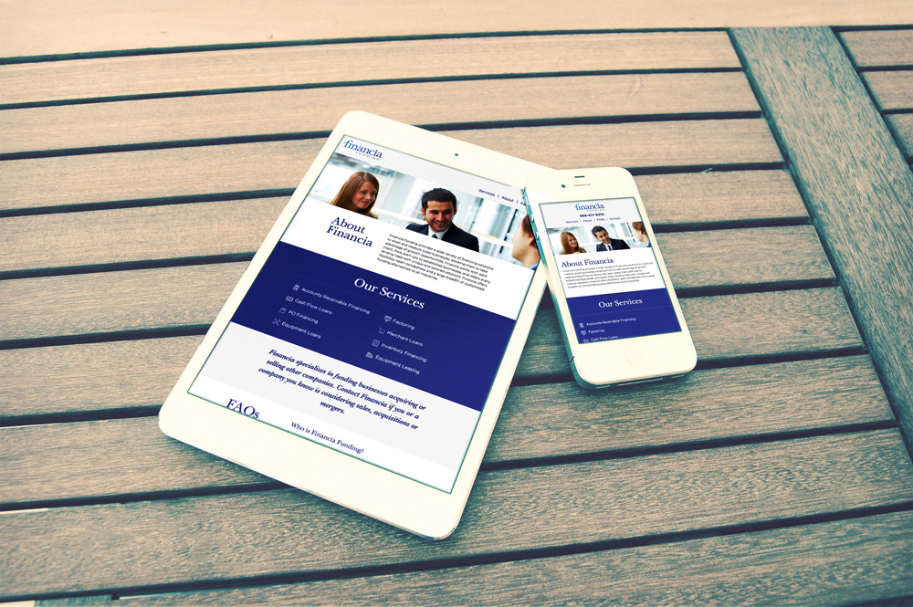 New Orleans Mobile Website Development and Design - Financia Funding Website