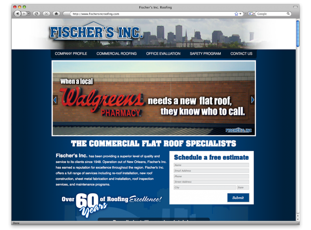 New Orleans Website Development and Design - Fischers Inc Website
