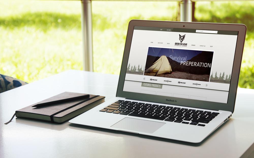 New Orleans Website Design and Development - Green Fox Gear Website
