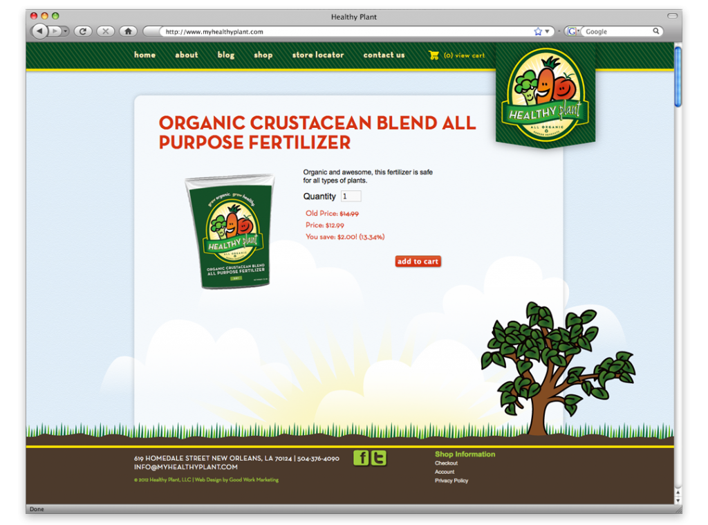 Website Design and Development - Healthy Plant Website Shop