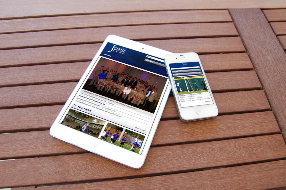 New Orleans Mobile Website Design and Development - Jesuit Website