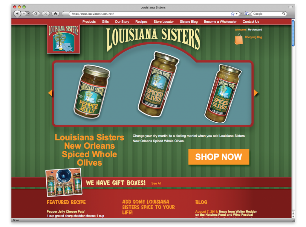 Louisiana Sisters Website Design and Development