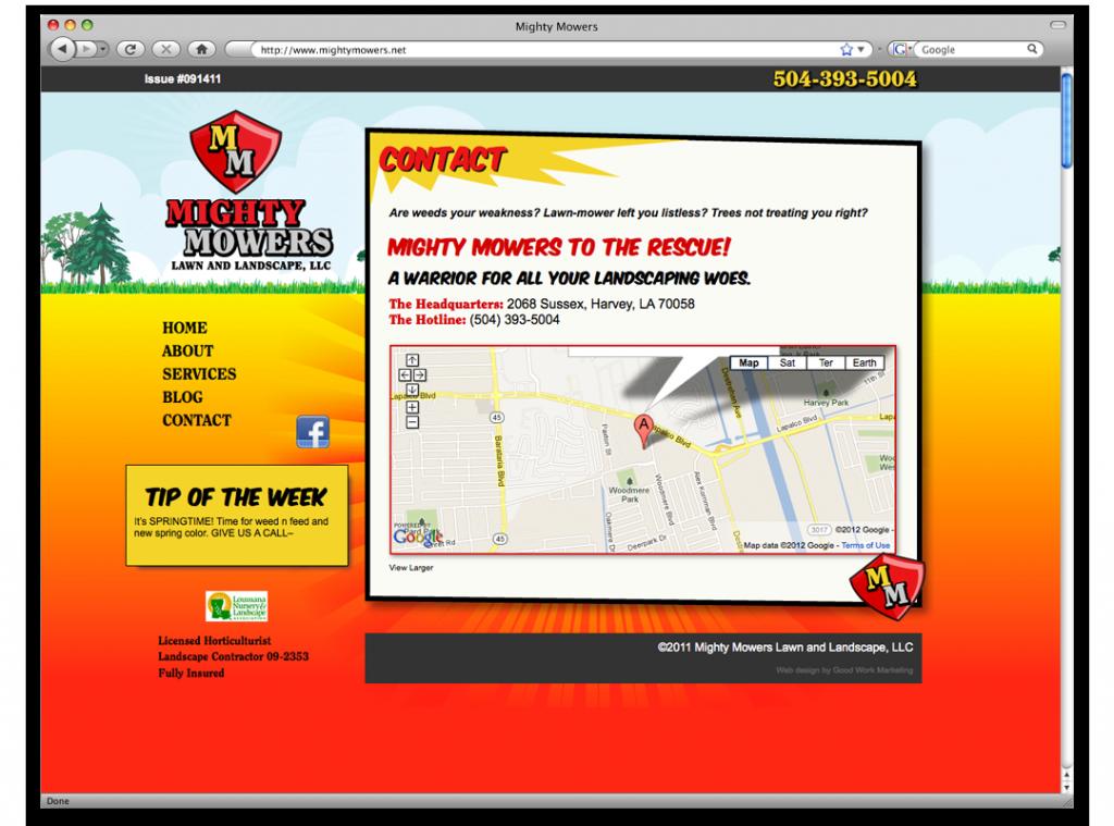 Website Development and Design - Mighty Mowers