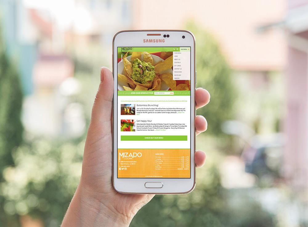 New Orleans Mobile Website Design and Development - Mizado Cocina Website