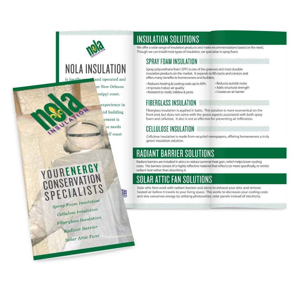 Marketing Collateral Design - NOLA Insulation Trifold