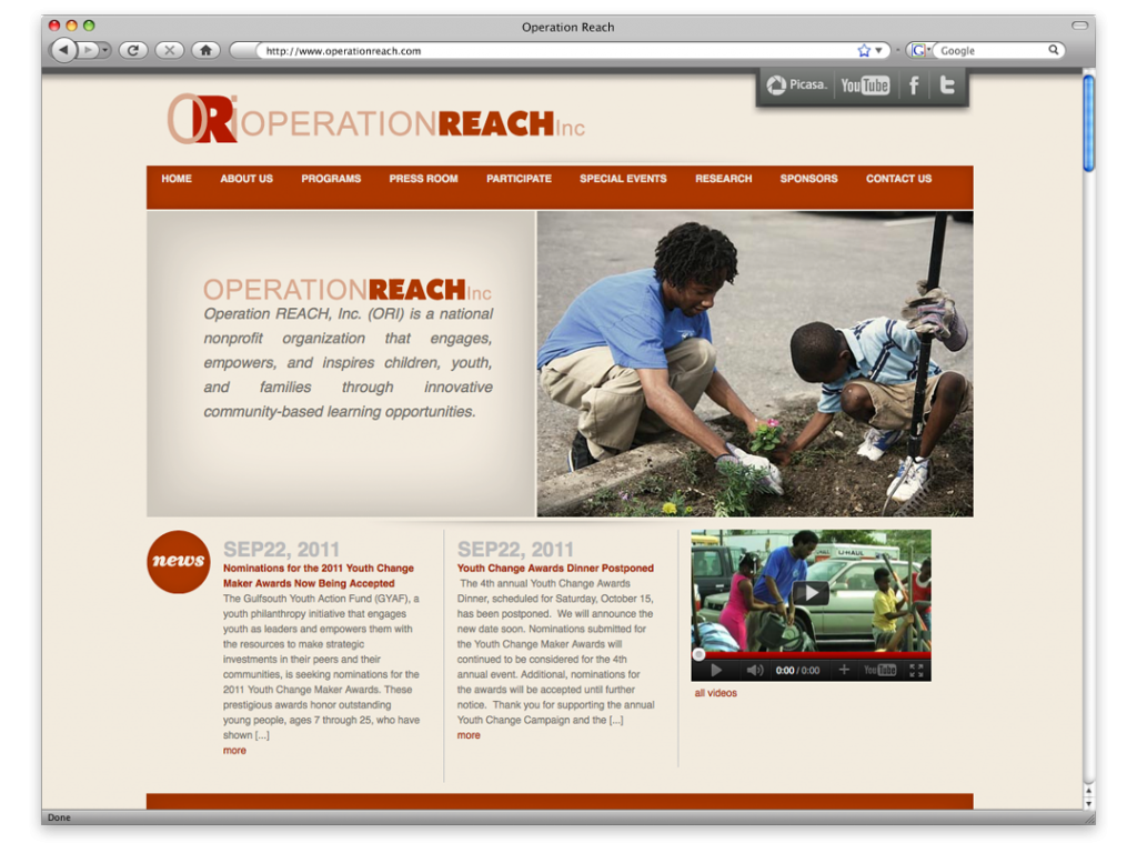 New Orleans Wesbite Design and Development - Operation Reach