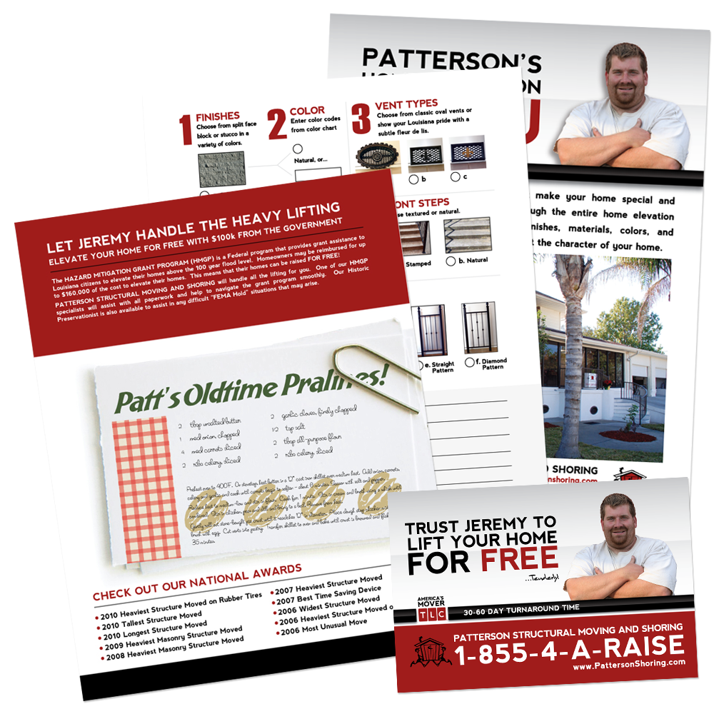 Marketing Collateral Design - Patterson Shoring Printed Collateral
