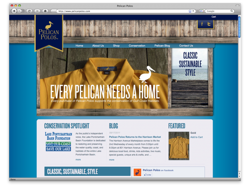 Pelican Polos New Orleans Website Development and Design