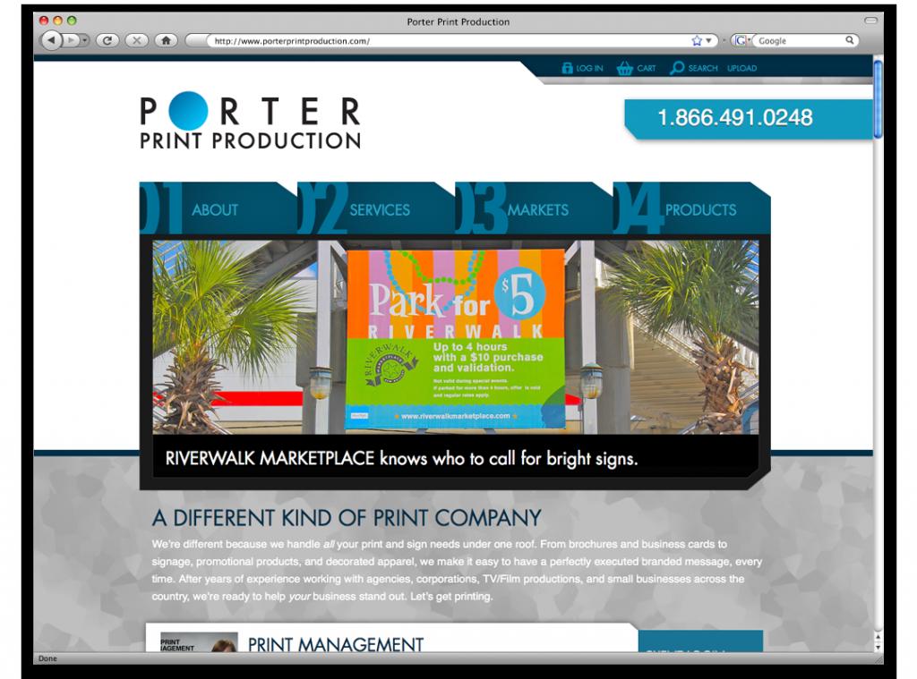 Website Development and Design - Porter Print Website