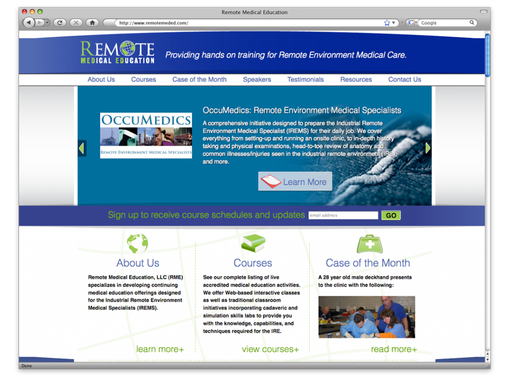 Website Design and Development - Remote Medical Education